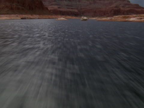 dramatic sky over lake powell - lago powell video stock e b–roll