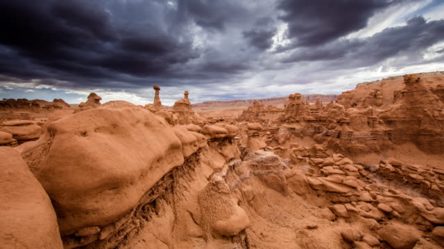 t/l 8k dramatic sky over the goblin valley - utah stock videos & royalty-free footage