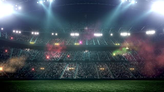 Incredibile stadio di calcio pieno di spettatori