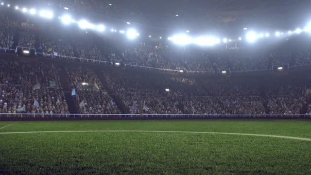 Dramatische Fußballstadion voller Zuschauer