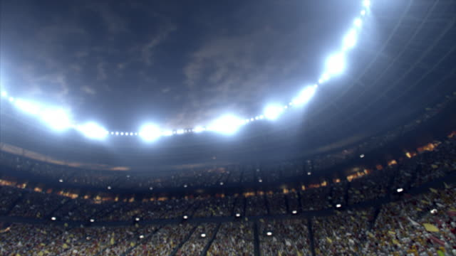 dramatic soccer stadium full of spectators - floodlight stock videos & royalty-free footage