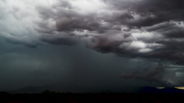 dramatic southeastern arizona monsoon thunderstorm - monsoon stock videos & royalty-free footage