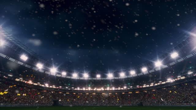 Dramatische stadion vol met toeschouwers