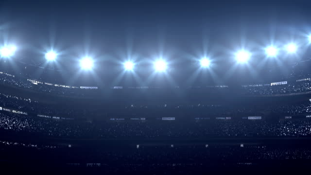 incredibile stadium - spettatore video stock e b–roll