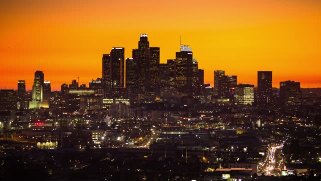 dramatic sunset in los angeles - time lapse - dusk to night stock videos & royalty-free footage