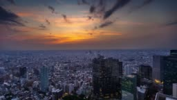 Dramatic Sunset in Tokyo - Time Lapse