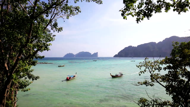 dramatic view of phi phi islands - phuket stock videos & royalty-free footage