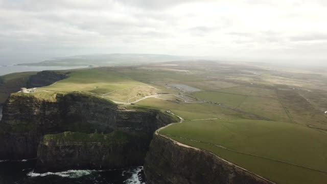 dramatic views of the cliffs of moher, the burren, wild atlantic way, co. clare, ireland. - doolin stock videos & royalty-free footage