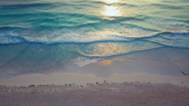 dramatic waves touching the shorelines of the beach - tulum mexico stock videos & royalty-free footage
