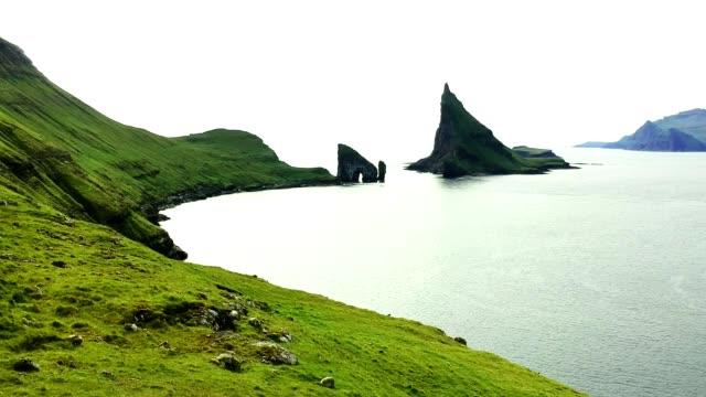 dranganir rock at the faroe islands