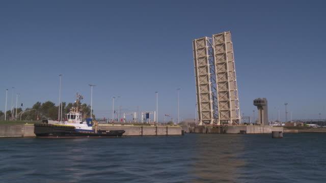 ms drawbridge / zeebrugge, flandres, belgium - drawbridge stock videos and b-roll footage