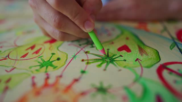 drawing - art product on paper - drawing artistic product stock videos & royalty-free footage