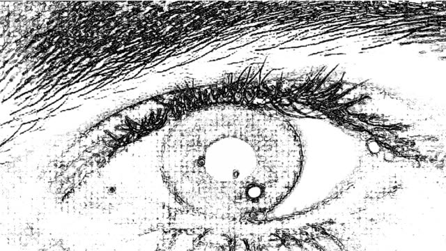 drawing eyes - sketch stock videos & royalty-free footage