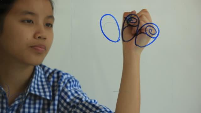 zeichnung blume. - menschlicher finger stock-videos und b-roll-filmmaterial
