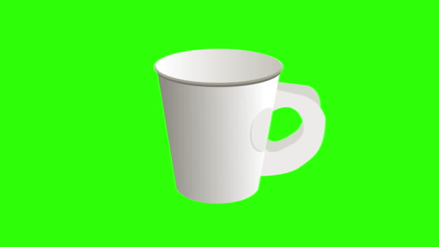 drawing green background with theme of white paper cups - cap mockup stock videos & royalty-free footage