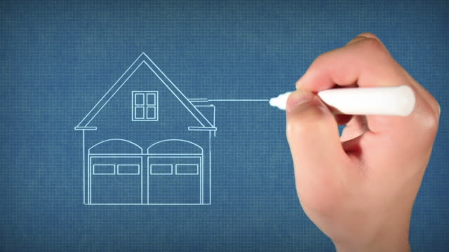 drawing house blueprint - home ownership stock videos & royalty-free footage