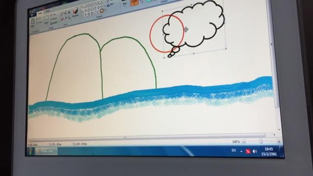 コンピュータ上での描画 - デザイナー点の映像素材/bロール