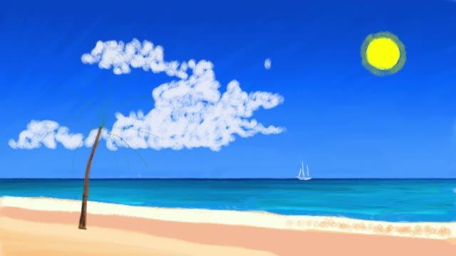 drawn beach