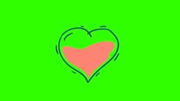 Drawn Heart Pierced Arrow and Explodes
