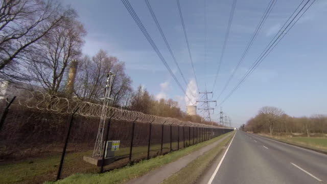 drax electricity generating power station. - chainlink fence stock videos and b-roll footage
