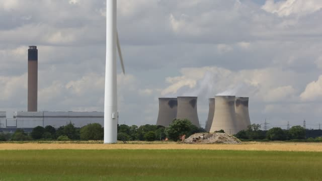 drax power station in yorkshire uk they are currently converting the power station to burn a percentage of biofuel as well as coal most of the wood... - cereal plant stock videos & royalty-free footage