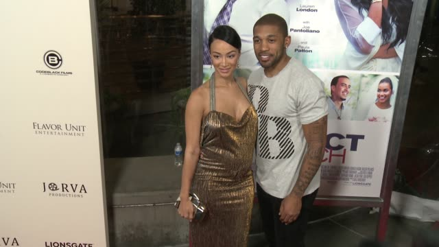 draya michele and orlando scandrick at the perfect match los angeles premiere at arclight cinemas on march 07 2016 in hollywood california - arclight cinemas hollywood stock videos & royalty-free footage