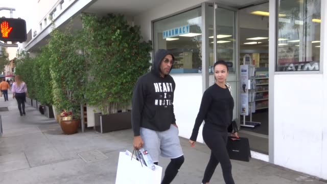 Draya Michele Orlando Scandrick leave lunch in Beverly Hills in Celebrity Sightings in Los Angeles