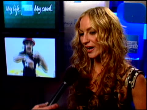 drea de mateo interview clip at the american express jam sessions with kid rock epk at house of blues in los angeles, california on february 10, 2005. - kid rock stock videos & royalty-free footage