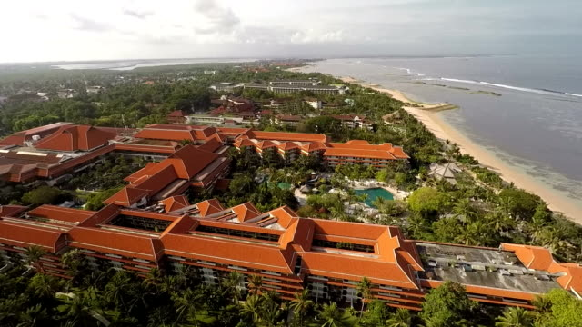 dream destination: nusa dua, bali, aerial - tourist resort stock videos and b-roll footage