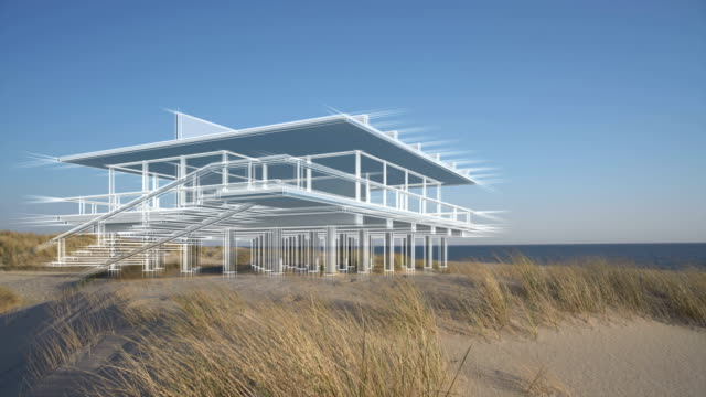 dream house on the beach - north frisian islands stock videos & royalty-free footage
