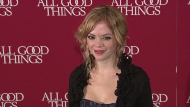 dreama walker at the 'all good things' new york premiere at new york ny. - dreama walker video stock e b–roll