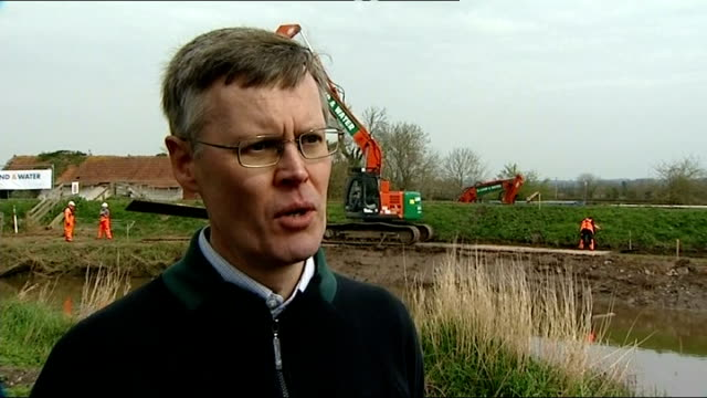 dredging starts on somerset levels craig woolhouse interview sot increased sea levels will have impact / increased rainfall flowing down into levels... - somerset levels stock videos and b-roll footage