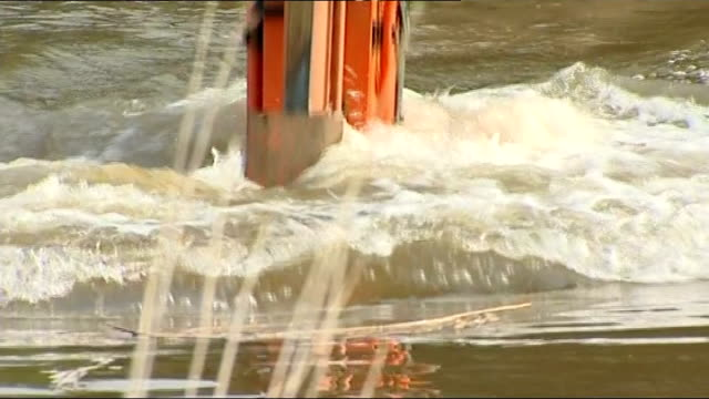 dredging starts on somerset levels england somerset somerset levels shot as along on river parrett various shots of river being dredged with... - somerset levels stock videos and b-roll footage