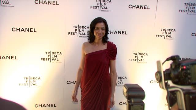 drena deniro at the 8th annual tribeca film festival chanel dinner at new york ny - drena de niro stock videos & royalty-free footage