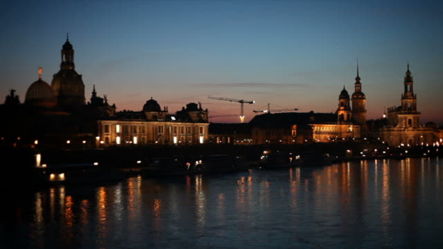 dresden at night. germany - hofkirche stock videos & royalty-free footage