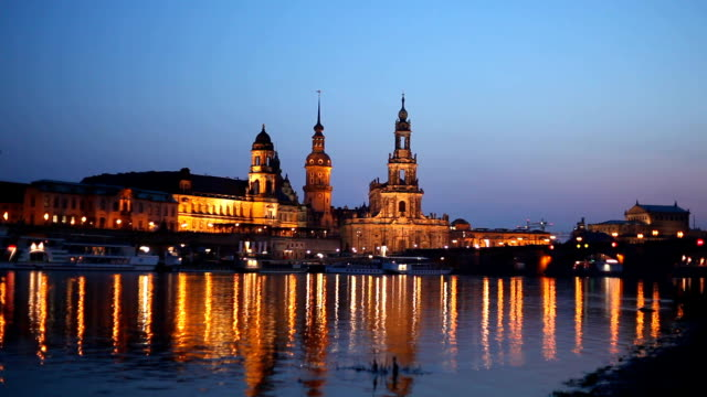 dresden at sunset - hofkirche stock videos & royalty-free footage