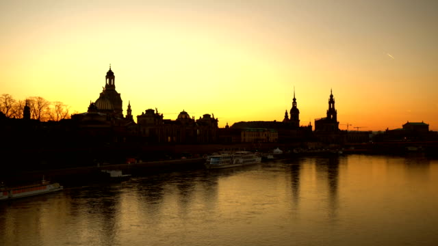 dresden at sunset - dresden frauenkirche stock videos & royalty-free footage
