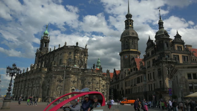 dresden castle and the katholische hofkirche in dresden, saxony, germany - hofkirche stock videos & royalty-free footage
