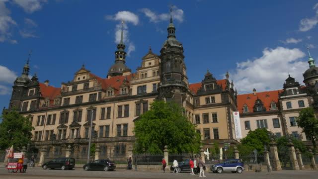 dresden castle at schlossplatz, dresden, saxony, germany - castle stock-videos und b-roll-filmmaterial