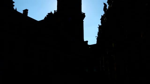 dresden hofkirche, germany - hofkirche stock videos & royalty-free footage