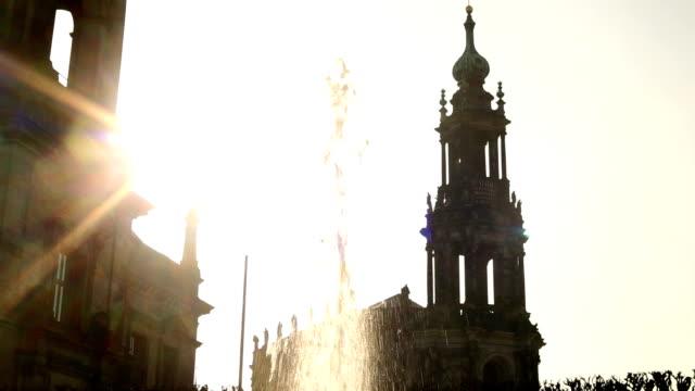 dresden hofkirche - hofkirche stock videos & royalty-free footage