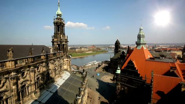 dresden hofkirche with sun - hofkirche stock videos & royalty-free footage