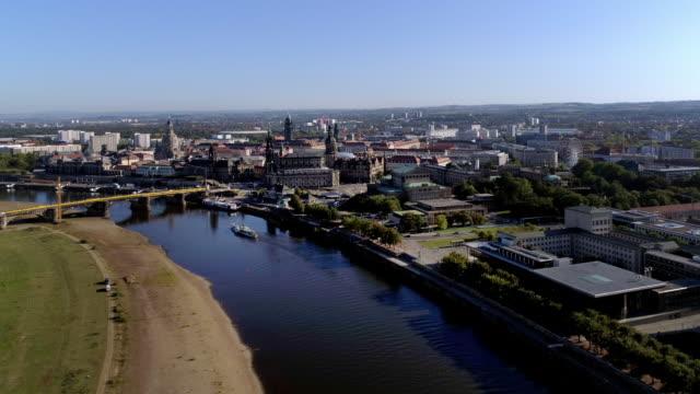 dresden on sunny autumn day - hofkirche stock videos & royalty-free footage