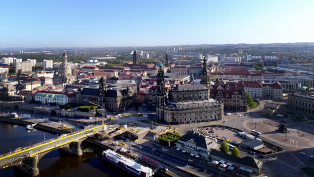 dresden on sunny autumn day - dresden germany stock videos & royalty-free footage