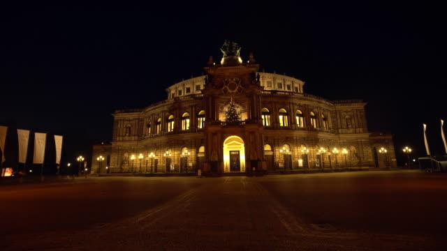 dresden semperoper - hofkirche stock videos & royalty-free footage