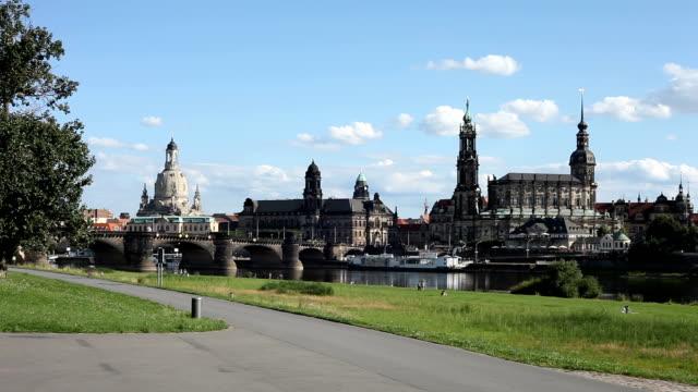 dresden skyline, germany - time lapse - hofkirche stock videos & royalty-free footage
