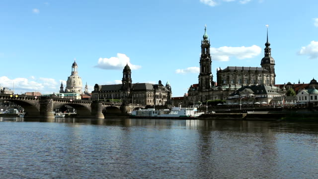 dresden skyline, germany - hofkirche stock videos & royalty-free footage