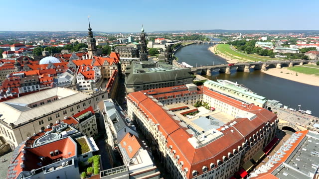 skyline von dresden - panorama stock-videos und b-roll-filmmaterial