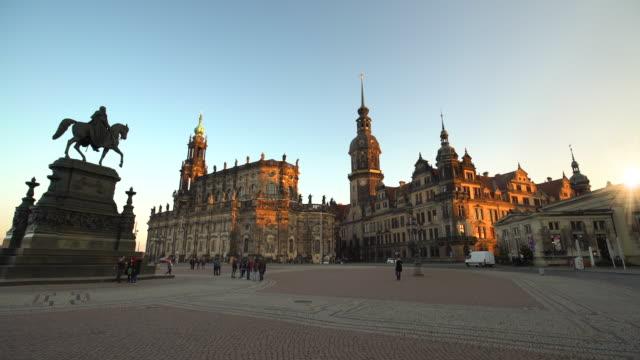dresden with hofkirche - hofkirche stock videos & royalty-free footage