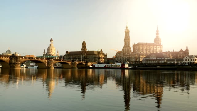 dresden mit sonne - panorama stock-videos und b-roll-filmmaterial